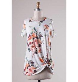 Floral Top W/Twist Detail