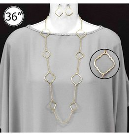 Worn Gold Necklace Set