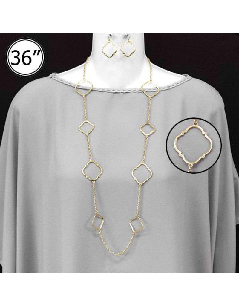 Worn Gold Necklace Set