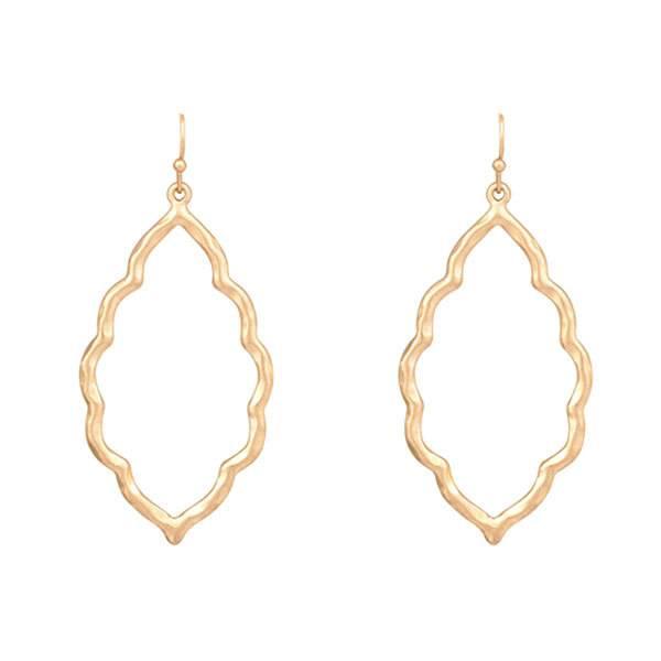 Turkish Shape Gold Earrings
