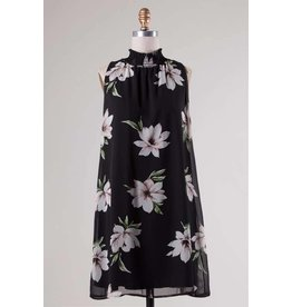 Floral Chiffon Swing Dress