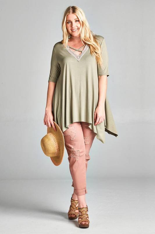 Vneck Swing Top
