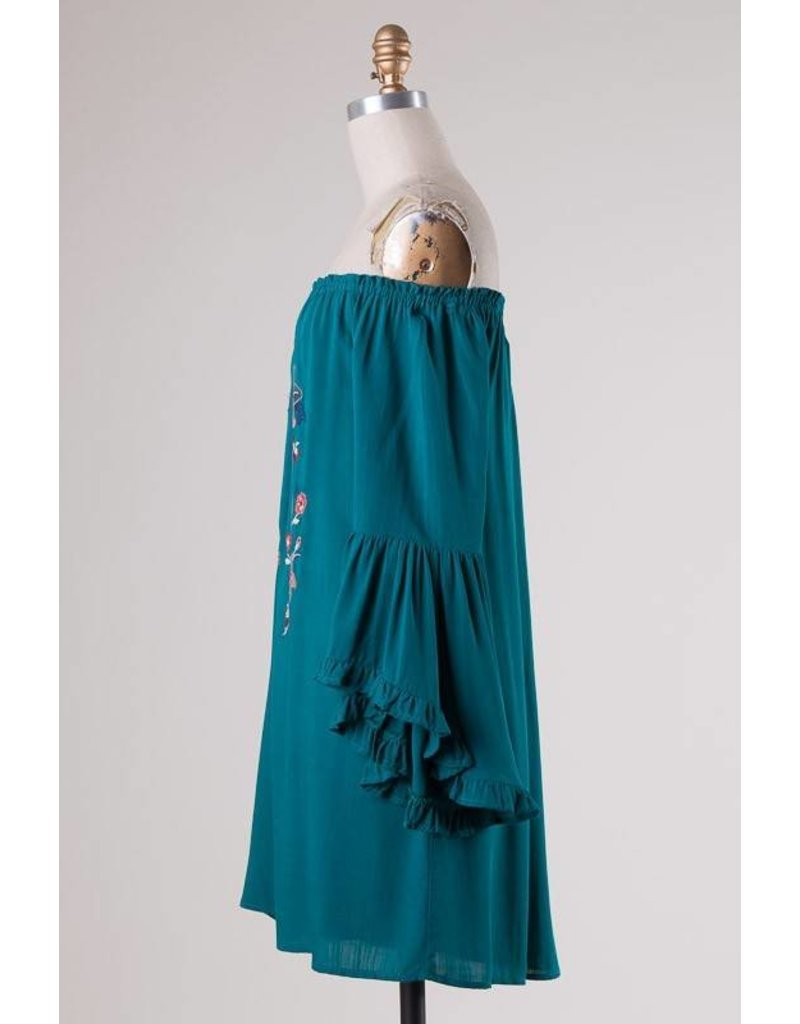Embroidered OTS Dress
