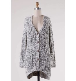 Button Down Soft Knit Cardigan