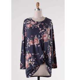 Floral Side Twist Top