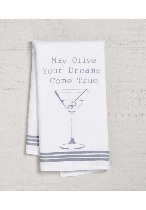 Olive Dreams Dishtowel