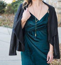 Velvet Twist Dress
