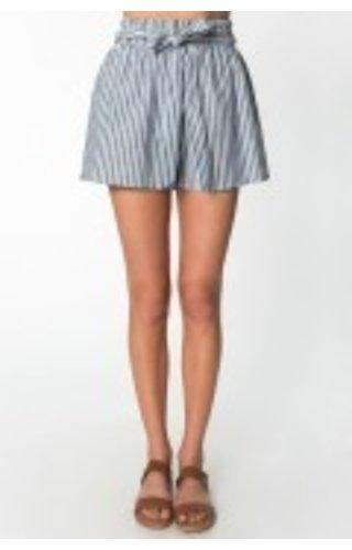 Belted Stripe Shorts