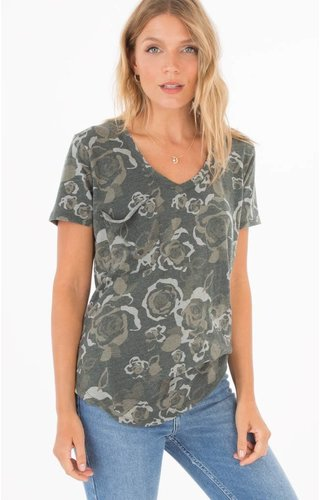 Rose Camo Pocket Tee