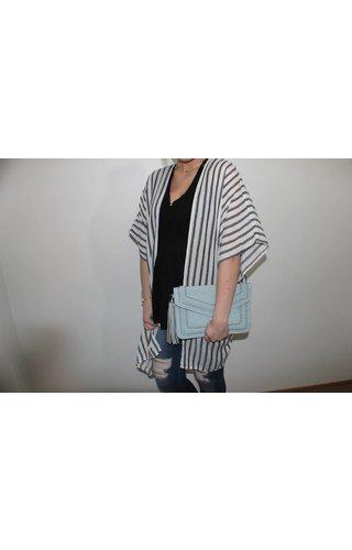 Stripe Linen Kimono