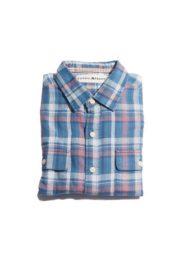 Double Cloth Indigo Check
