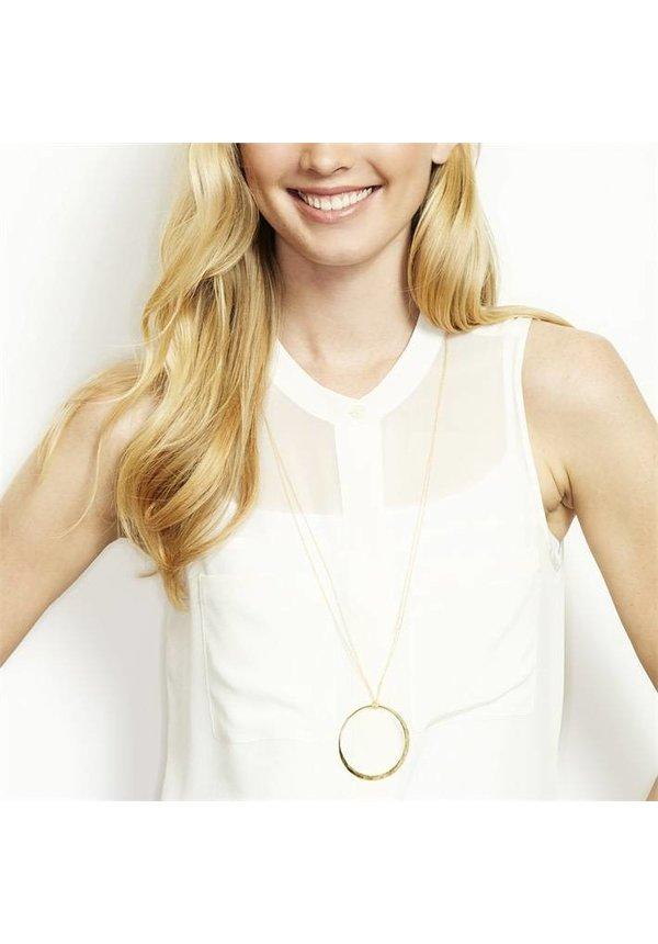 Open Circle Medallion Necklace