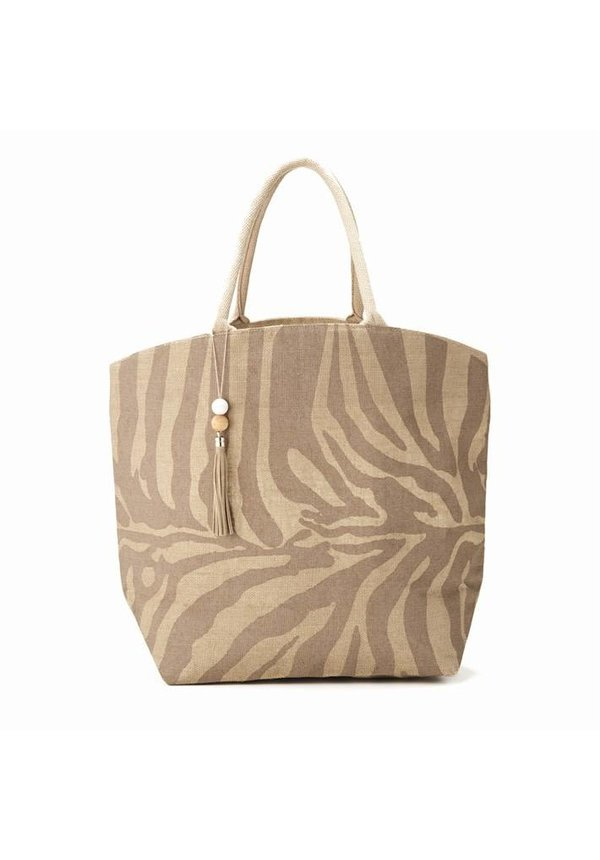 Neutral  Animal Print Tote