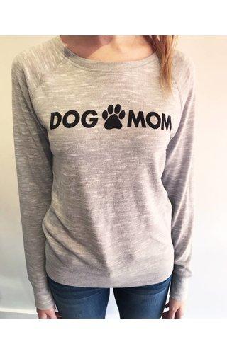 Brushed Dog Mom Pullover