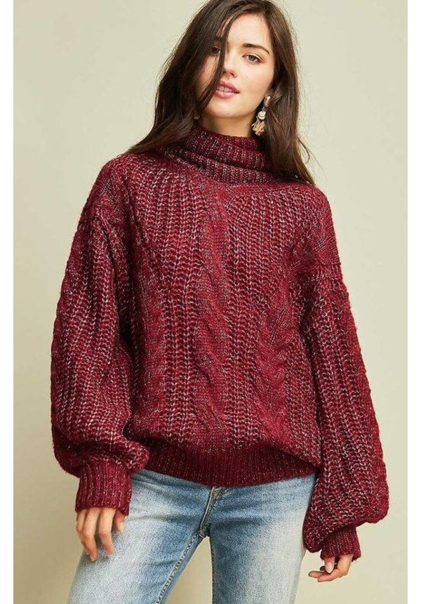Chunky Cable Knit Sweater