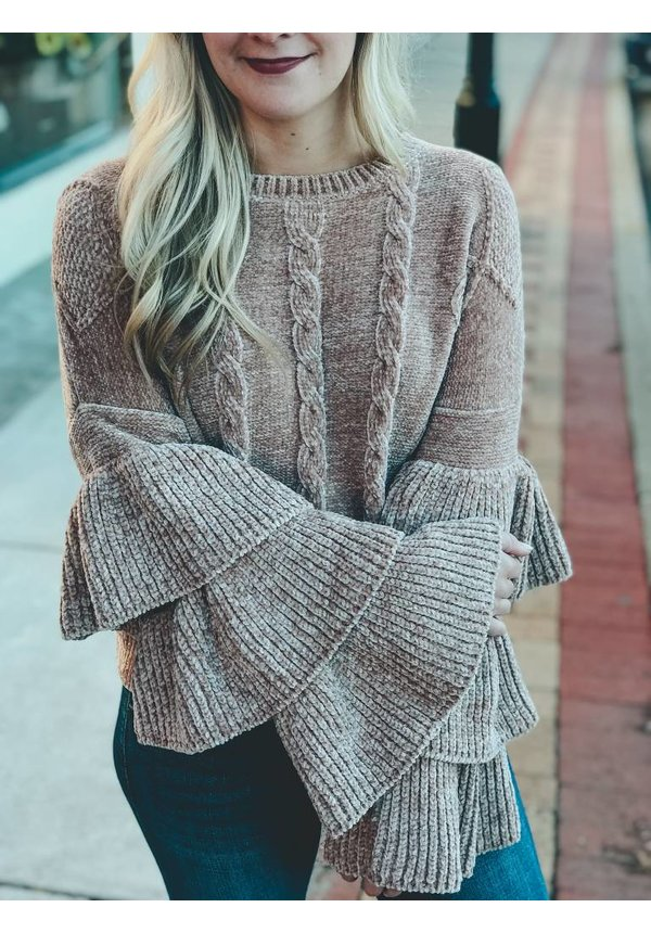 Ruffle Tier Sweater