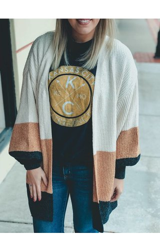 trend:notes Color Block Chenille Cardi