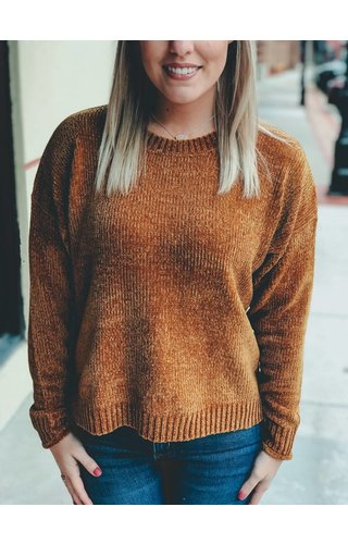 trend:notes Rib Knit Chenille Sweater