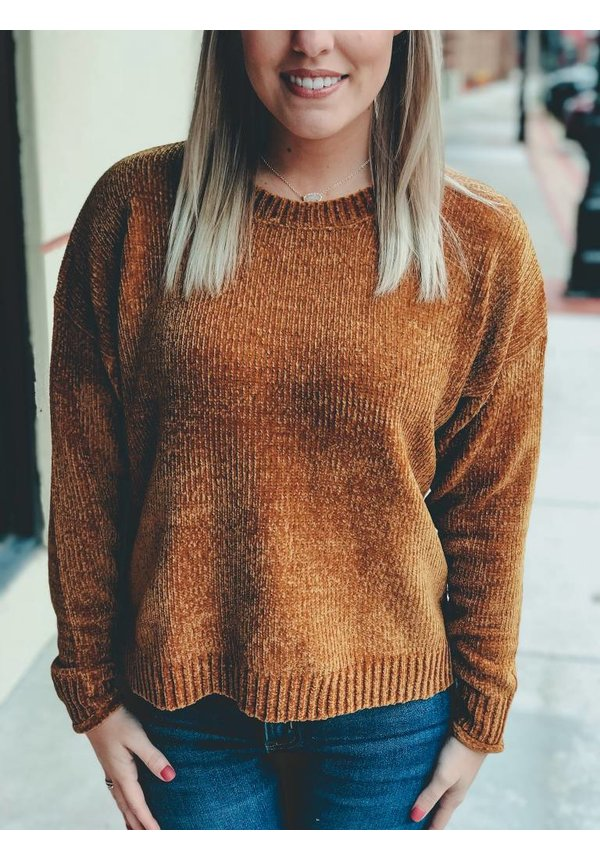 Rib Knit Chenille Sweater