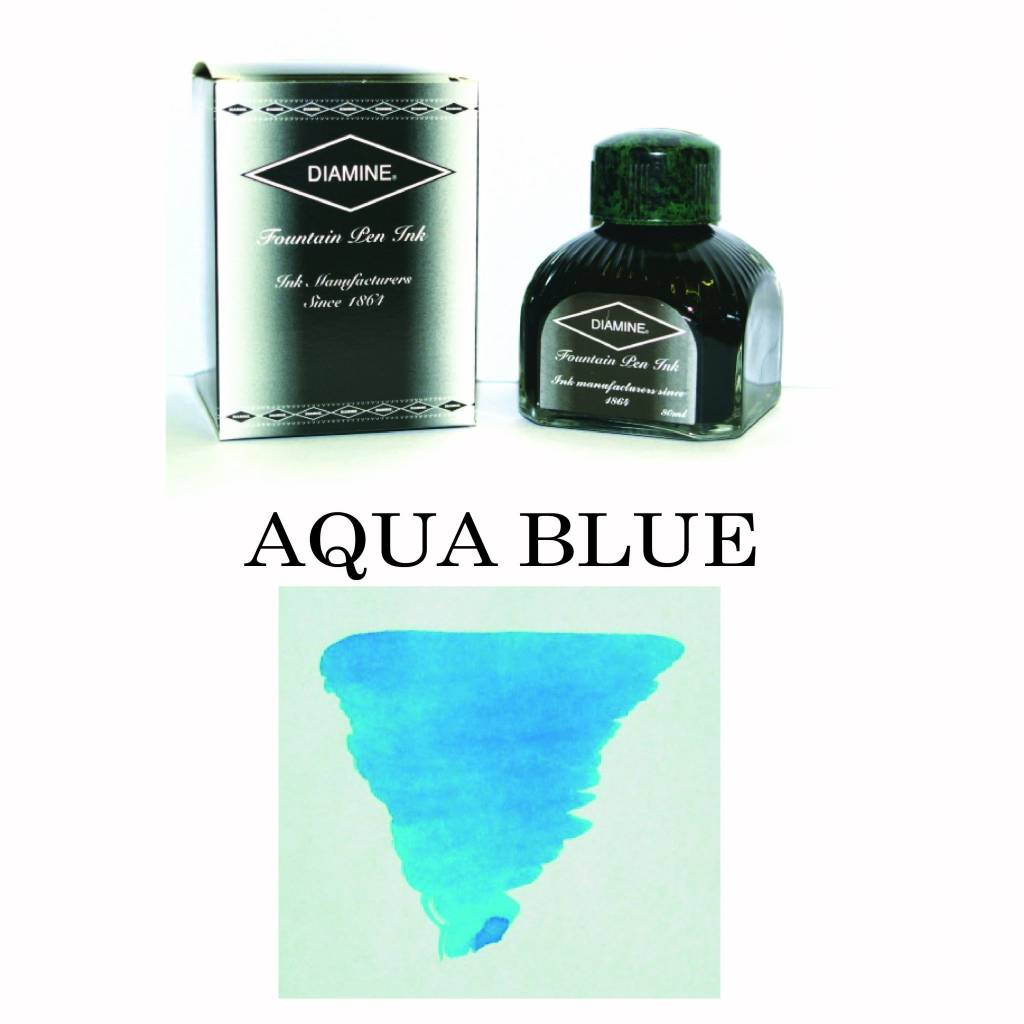 DIAMINE DIAMINE BOTTLED INK 80ML AQUA BLUE