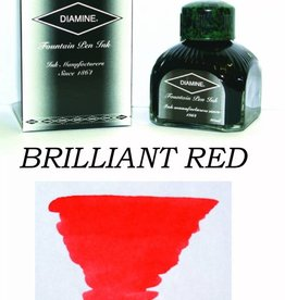 DIAMINE DIAMINE BOTTLED INK 80ML BRILLIANT RED