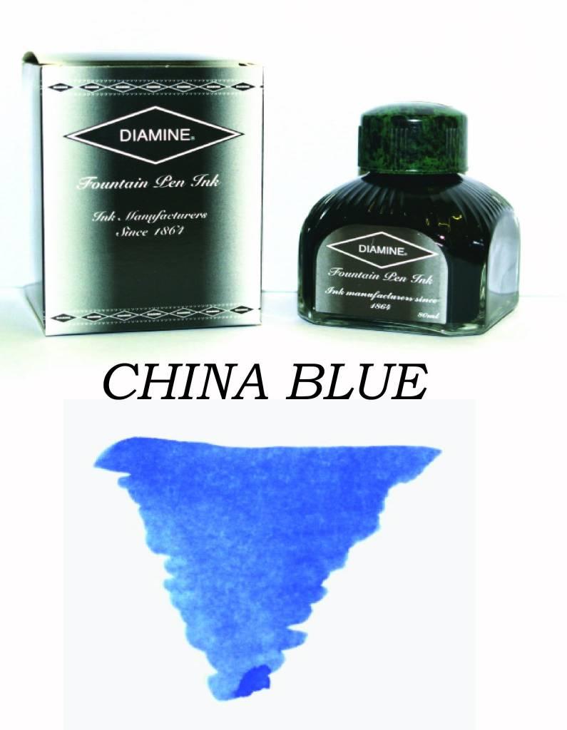 DIAMINE DIAMINE BOTTLED INK 80ML CHINA BLUE