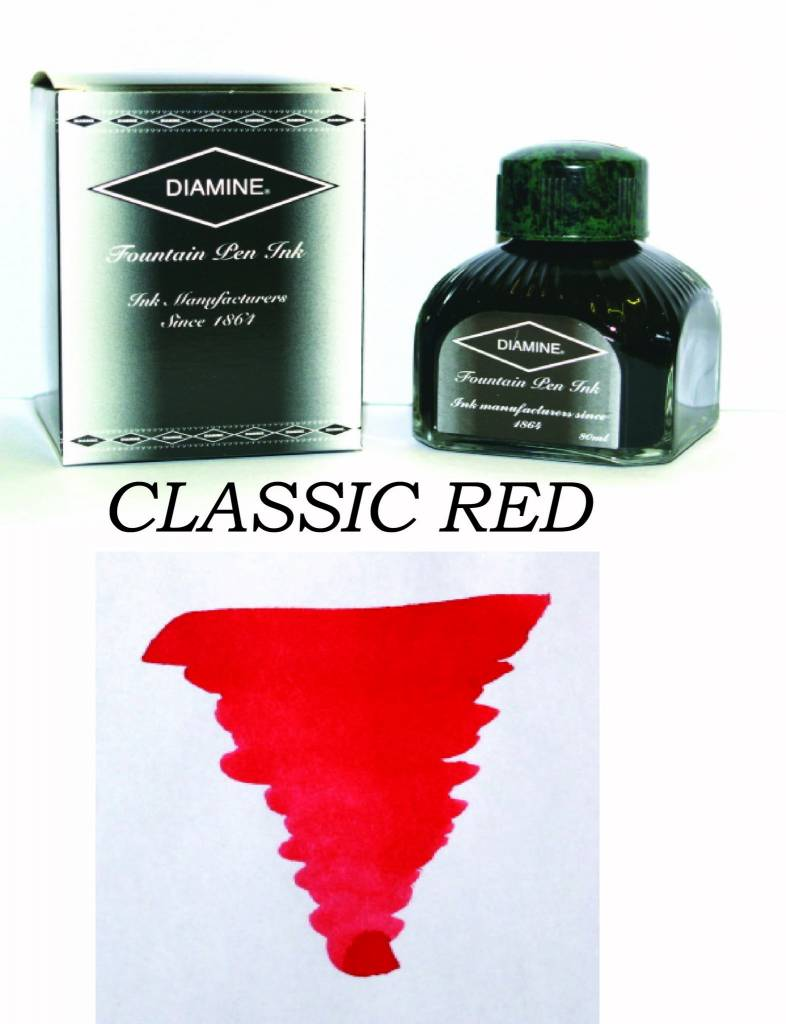 DIAMINE DIAMINE BOTTLED INK 80ML CLASSIC RED