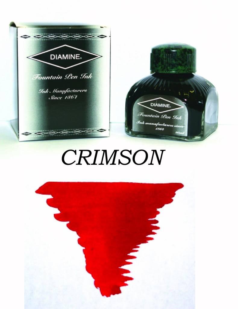 DIAMINE DIAMINE BOTTLED INK 80ML CRIMSON
