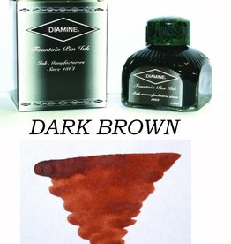 DIAMINE DIAMINE DARK BROWN - 80ML BOTTLED INK