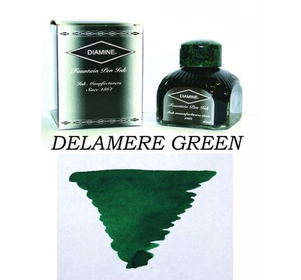 DIAMINE DIAMINE DELAMERE GREEN - 80ML BOTTLED INK