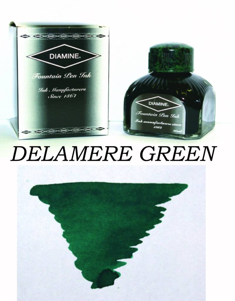 DIAMINE DIAMINE BOTTLED INK 80ML DELAMERE GREEN