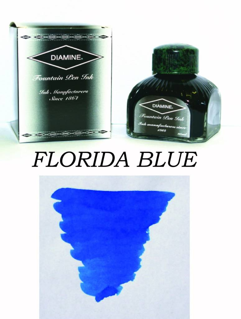 DIAMINE DIAMINE BOTTLED INK 80ML FLORIDA BLUE