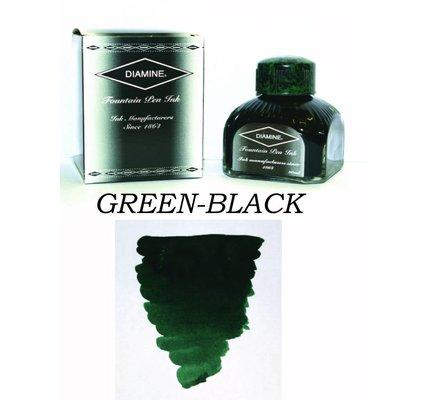 DIAMINE DIAMINE GREEN-BLACK - 80ML BOTTLED INK