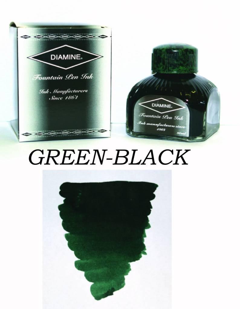 DIAMINE DIAMINE BOTTLED INK 80ML GREEN-BLACK