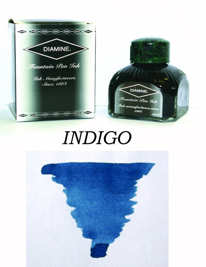DIAMINE DIAMINE BOTTLED INK 80ML INDIGO