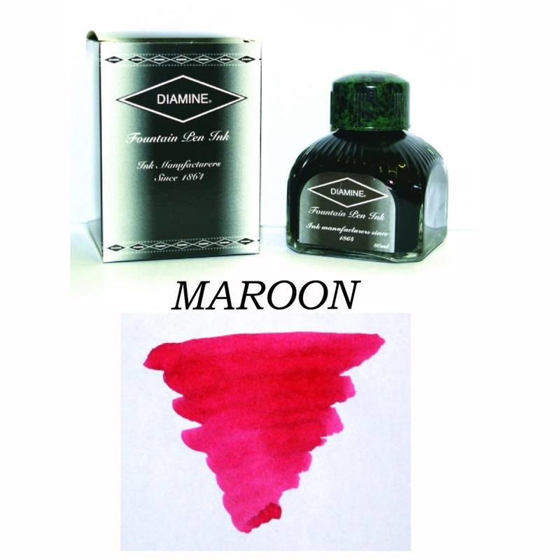 DIAMINE Diamine Maroon - 80ml Bottled Ink