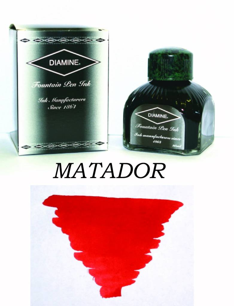 DIAMINE DIAMINE BOTTLED INK 80ML MATADOR
