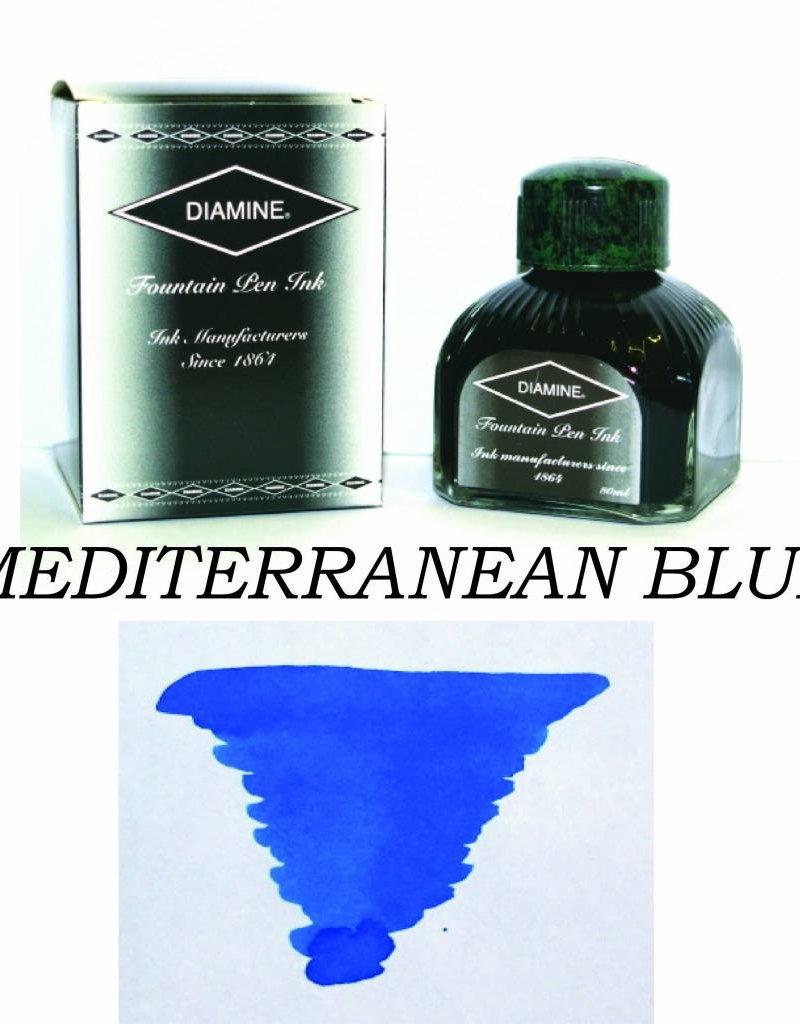 DIAMINE DIAMINE BOTTLED INK 80ML MEDITERRANEAN BLUE