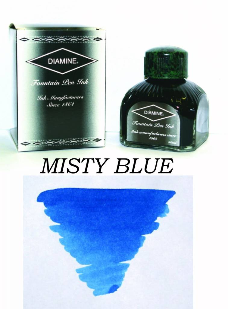 DIAMINE DIAMINE BOTTLED INK 80ML MISTY BLUE