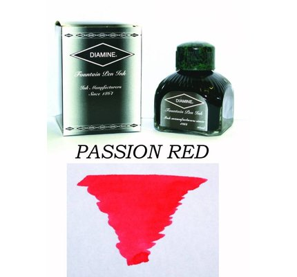 DIAMINE DIAMINE PASSION RED - 80ML BOTTLED INK