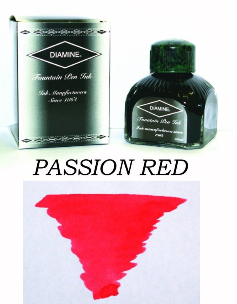 DIAMINE DIAMINE BOTTLED INK 80ML PASSION RED