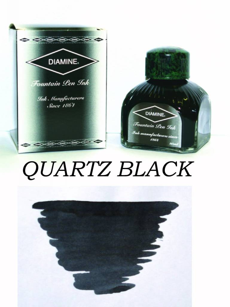 DIAMINE DIAMINE BOTTLED INK 80ML QUARTZ BLACK