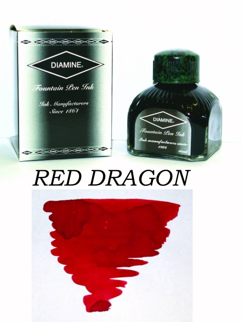DIAMINE DIAMINE BOTTLED INK 80ML RED DRAGON