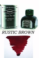 DIAMINE DIAMINE RUSTIC BROWN - 80ML BOTTLED INK