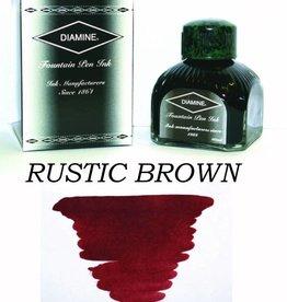 DIAMINE DIAMINE RUSTIC BROWN - 80ML BOTTLED INK