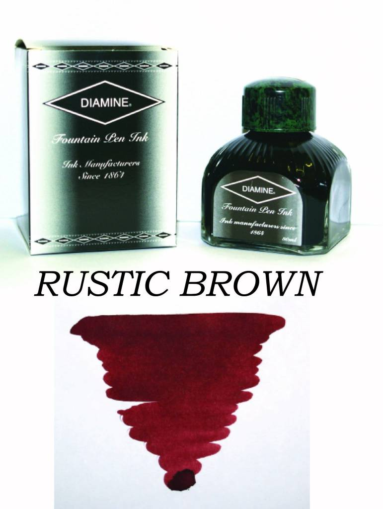 DIAMINE DIAMINE BOTTLED INK 80ML RUSTIC BROWN