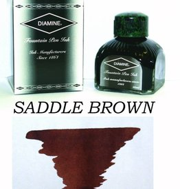 DIAMINE DIAMINE BOTTLED INK 80ML SADDLE BROWN