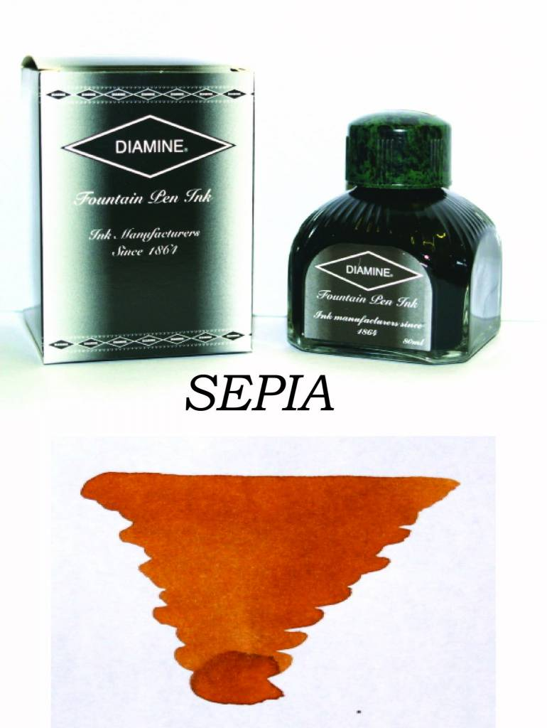 DIAMINE DIAMINE BOTTLED INK 80ML SEPIA