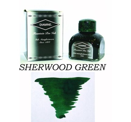 DIAMINE DIAMINE SHERWOOD GREEN - 80ML BOTTLED INK