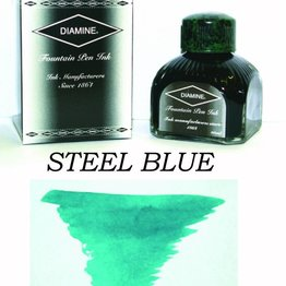Diamine Diamine Steel Blue - 80ml Bottled Ink